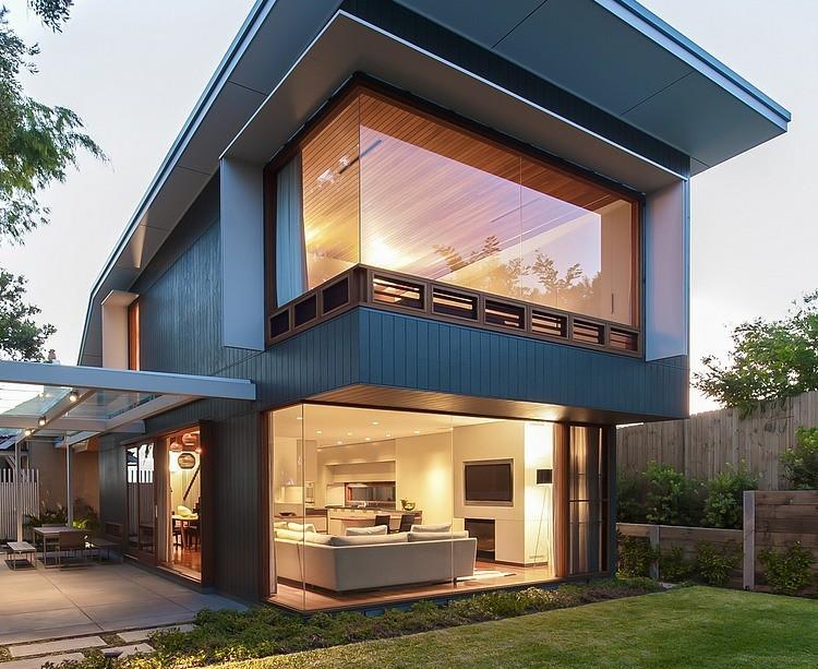Modern Loft Island house Australia (1)