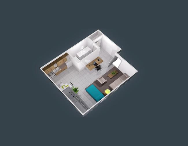 apartment-condo floor plan (17)