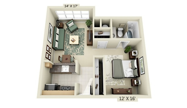 Efficiency Apartment Floor Plan Apartment Condo Floor Plan 13 3d Floor Plans