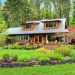 บ้านสไตล์คันทรี ตั้งอยู่กลางป่า สำหรับชีวิตครอบครัวที่รักสันโดษ