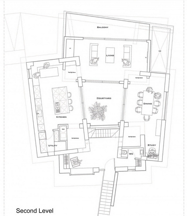 modern house under nature circumstance with zen garden (19)