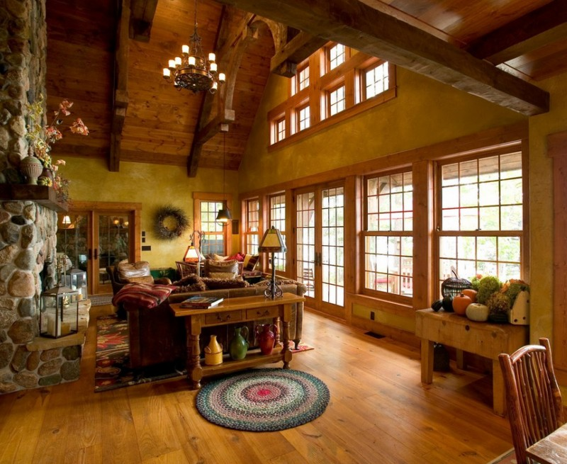 rustic house with gorgeous garden in wood (5)
