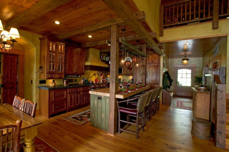 rustic house with gorgeous garden in wood (7)