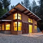 บ้านเพิงหมาแหงนที่ตั้งอยู่กลางป่า สวยสไตล์โมเดิร์นด้วยไม้และปูนสีน้ำตาล