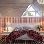 ห้องนอนไม่จำเป็นต้องมีสีเรียบๆ กับไอเดียตกแต่งห้องนอนสีแดงอย่างลงตัว