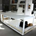 โต๊ะทำงานที่แปลงร่างเป็นเตียง สำหรับชาวออฟฟิศที่ชอบทำโอทีโดยเฉพาะ