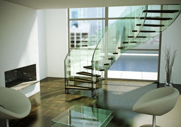 Extravagant-curved-floating-glass-staircase-seems-to-have-been-inspired-by-the-human-DNA