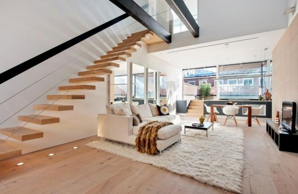 Modern-living-room-with-stylish-floating-staircase