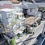 แบบบ้านสามชั้นแหวกแนวในญี่ปุ่น แบ่งย่อยเป็น 21 ชั้นพร้อมกระจกใสทั้งหลัง