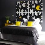 ตกแต่งภายในบ้านด้วยสีเหลือง ดำ ขาว ได้อย่างโดดเด่นและมีเอกลักษณ์