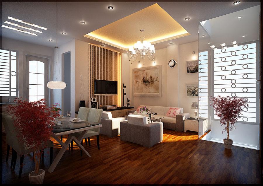 Cool-Living-Room-Lighting-with-Luxury-Chandelier