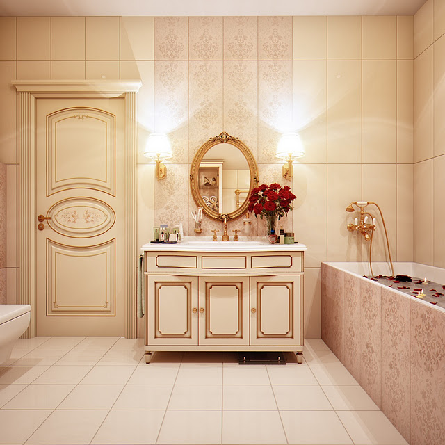 sink-unit-in-a-gold-toned-bathroom