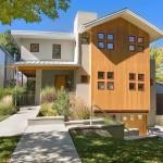 แบบบ้านสองชั้นรูปแบบสวย ออกแบบแนวโมเดิร์นหลังคาสองสไตล์ และสวนรอบบ้าน
