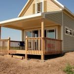 แบบบ้านกระท่อมไม้ชั้นเดียว หลังเล็กดูอบอุ่น จัดสรรพื้นที่ได้อย่างลงตัว