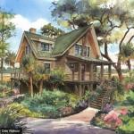 แบบบ้านไม้สามชั้น สร้างทรงใต้ถุน ขนาดกำลังดีเหมาะกับการอยู่อาศัย