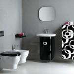 ไอเดียแต่งห้องน้ำแนวโมโนโทน ใช้สีขาวและดำ เพิ่มความแปลกใหม่ได้อย่างดี