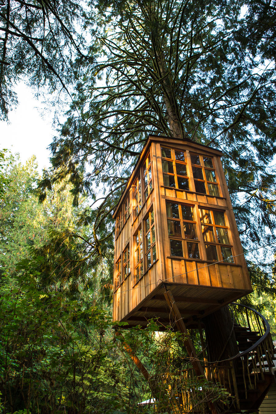 classic cottage wooden treehouse (1)