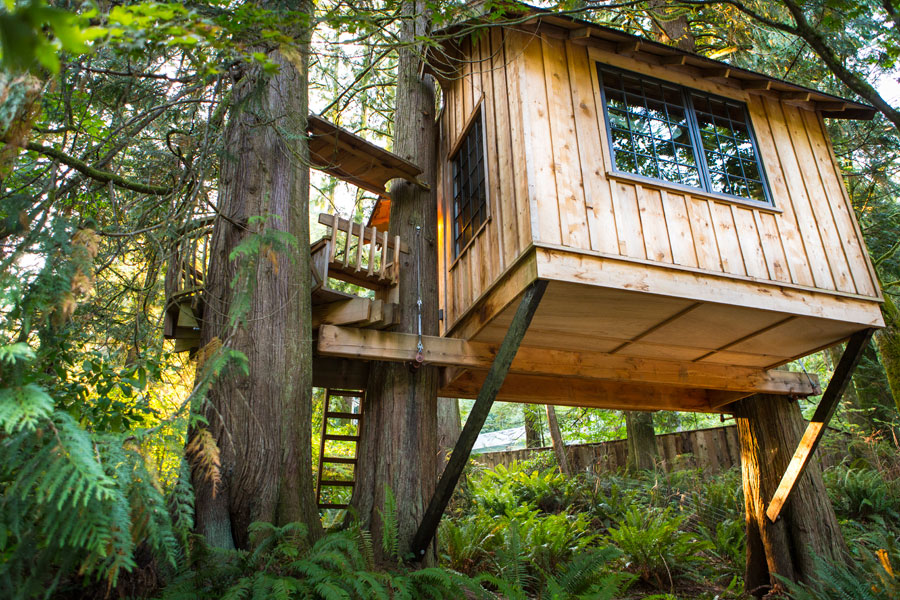 classic cottage wooden treehouse (8)