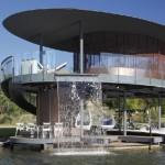 บ้านท่าเรือริมแม่น้ำ ออกแบบรูปวงกลมแนวโมเดิร์น ดูสวยงามทันสมัย