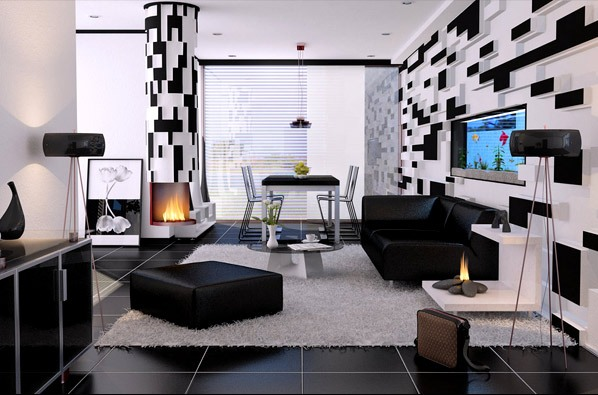 living room black white (6)