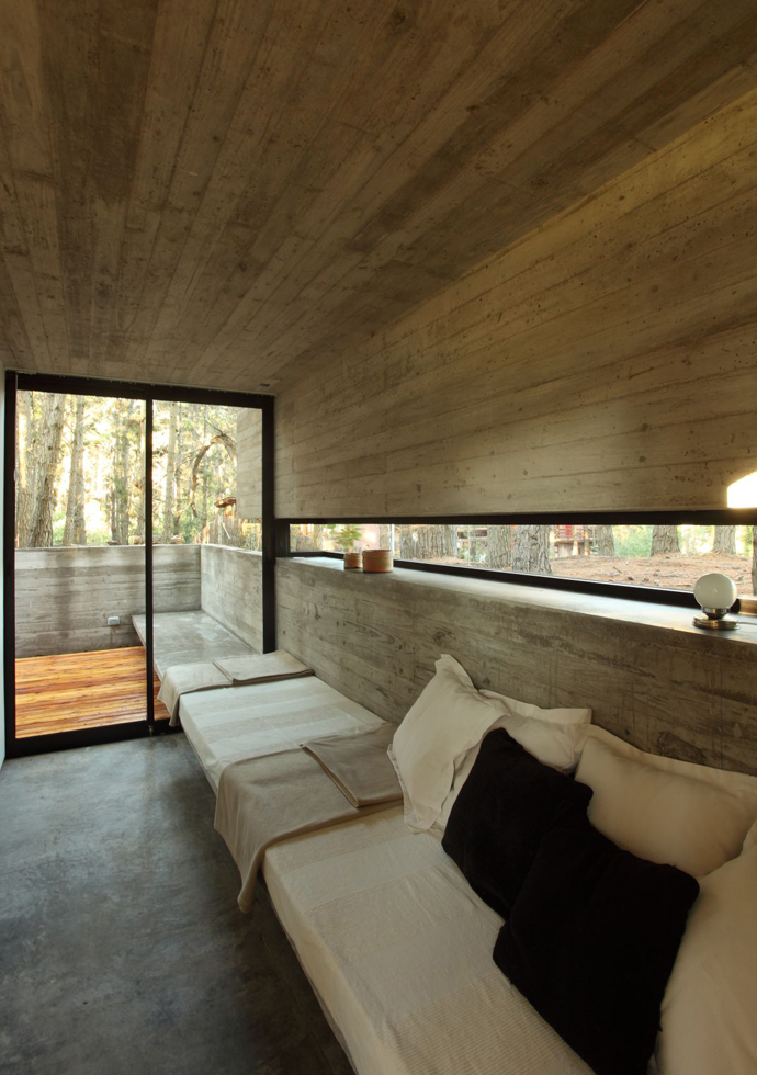 modern concrete house forest (17)