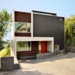 แบบบ้านสไตล์โมเดิร์น ตัวบ้าน 2 ชั้นขนาด 180 ตร.ม. ดูสวยงามทันสมัย