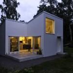 แบบบ้านชั้นครึ่งขนาดเล็ก รูปทรงสี่เหลี่ยมดูโมเดิร์น ดูเรียบง่ายลงตัว