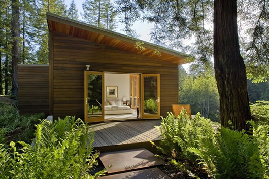 modern wood house forest (13)