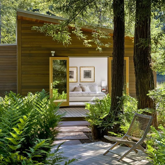 modern wood house forest (3)