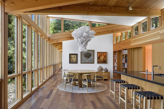 modern wood house forest (5)