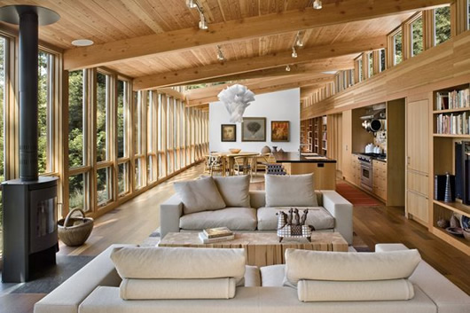 modern wood house forest (6)