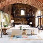 ไอเดียแต่งห้องนั่งเล่น ปรับปรุงจากโบสถ์ยุคโบราณ ดูกว้างขวางและปลอดโปร่ง