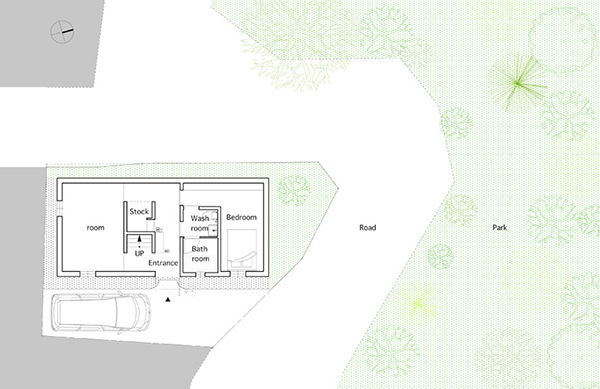 small compact modern house japan (1)