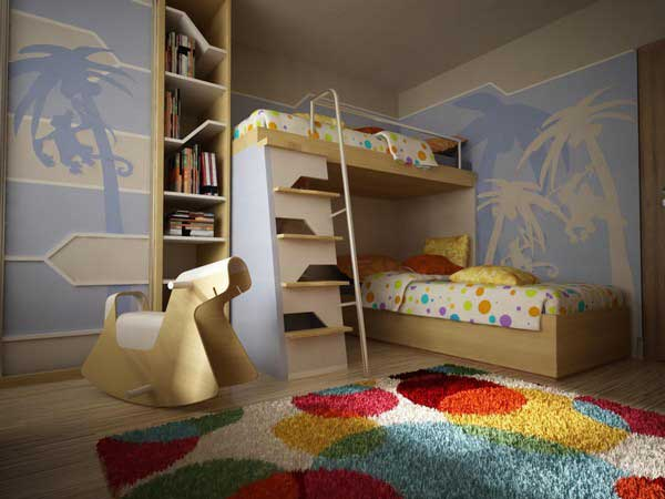 bedroom decoration bunk bed idea (3)