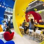 ไอเดียตกแต่งภายในห้องนั่งเล่น ห้องทำงาน ให้น่ารักสดใส ตามแบบ Google