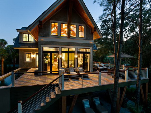 Deck of the HGTV Dream Home 2013 located on Kiawah Island in South Carolina.