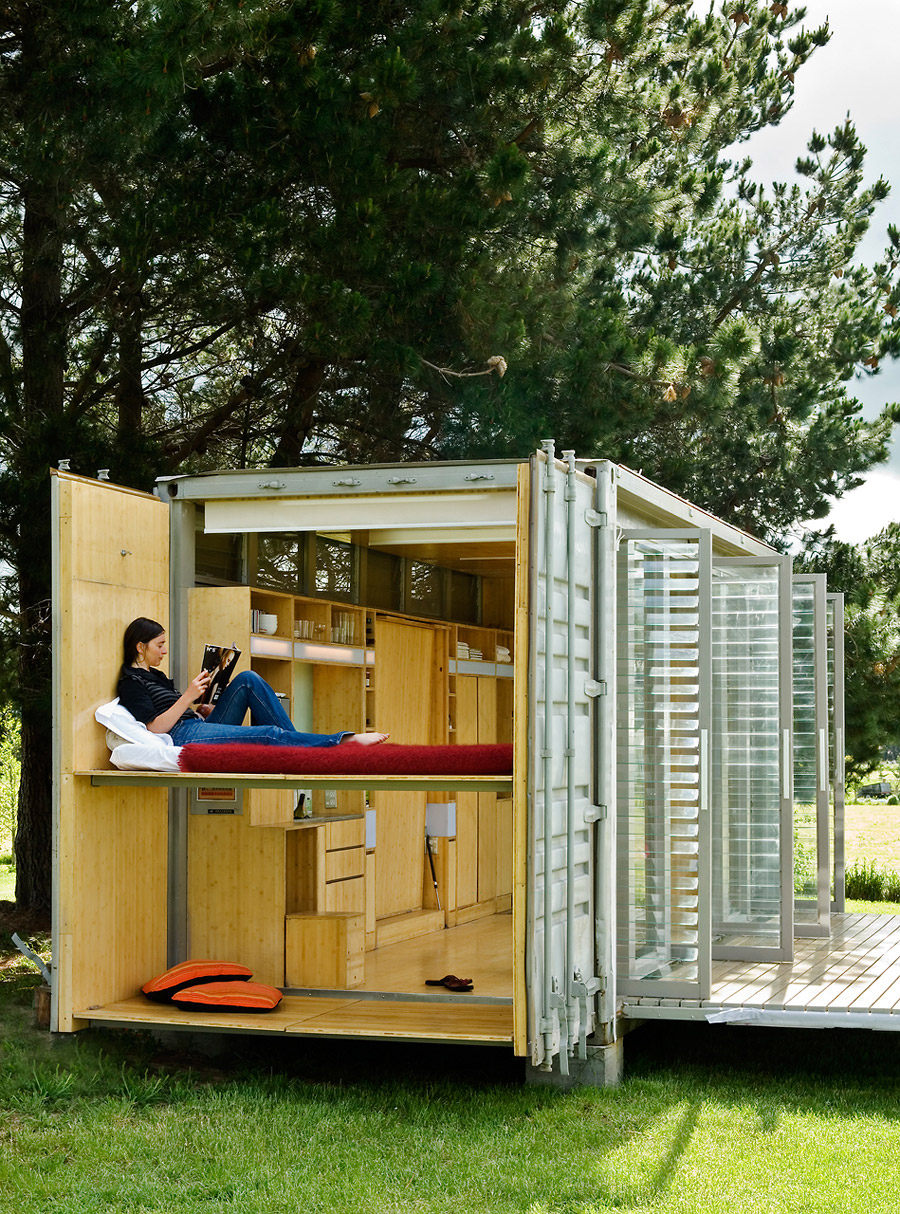 idea container house wooden cool (4)