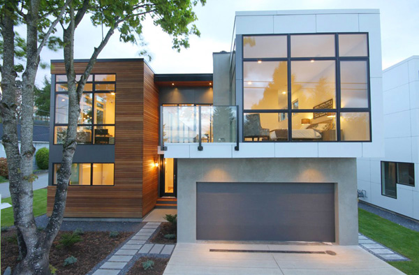 modern city house wood concrete glass (14)