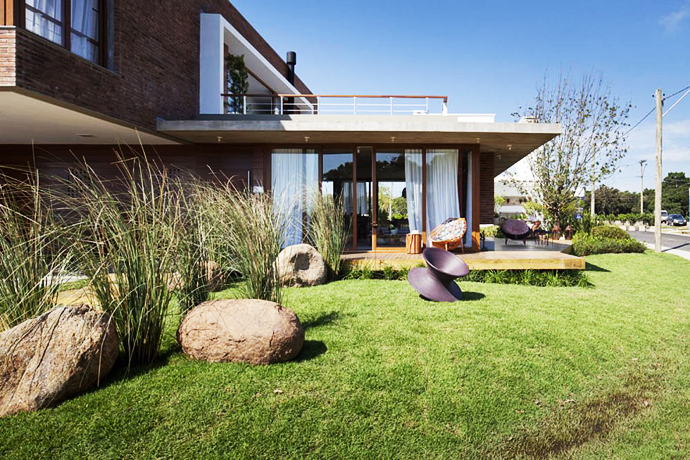 modern concrete brick glass house cool (1)