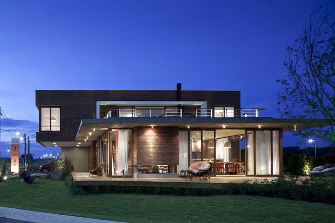 modern concrete brick glass house cool (10)