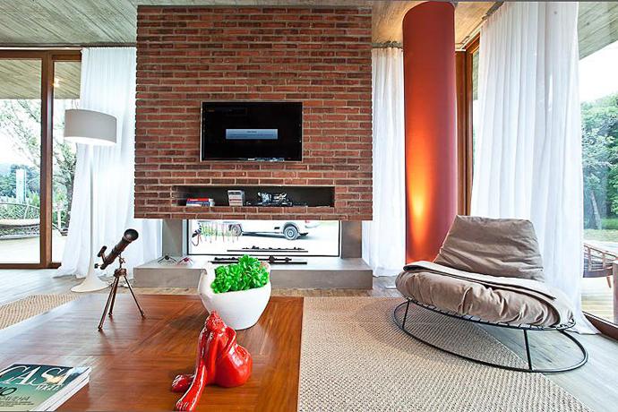 modern concrete brick glass house cool (14)