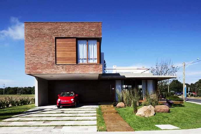 modern concrete brick glass house cool (15)