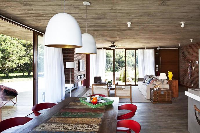 modern concrete brick glass house cool (2)