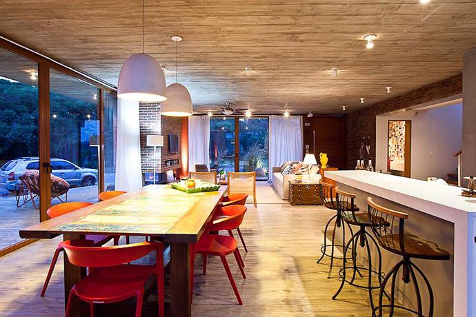 modern concrete brick glass house cool (4)