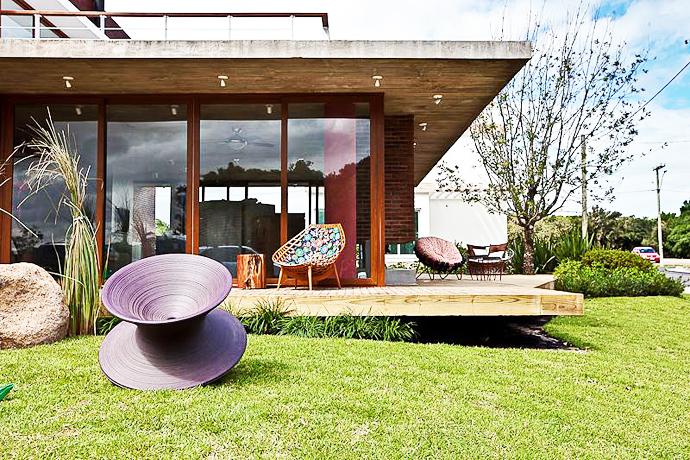 modern concrete brick glass house cool (6)