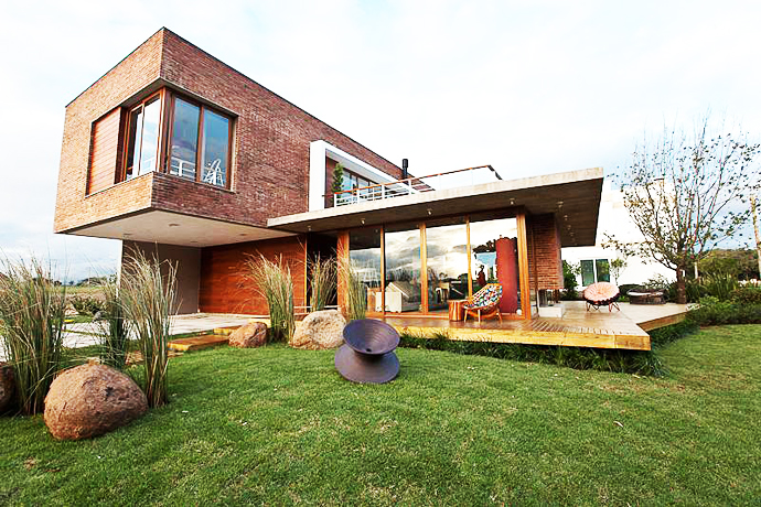modern concrete brick glass house cool (7)