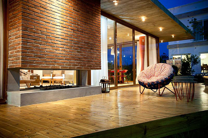 modern concrete brick glass house cool (9)