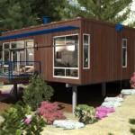 แบบบ้านไม้ราคาประหยัด ออกแบบตกแต่งแนวโมเดิร์น เน้นความโปร่งสบาย