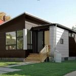แบบบ้านโมเดิร์นชั้นเดียว ออกแบบหลังคาสองสไตล์ ดูเรียบง่ายแต่สวยงาม