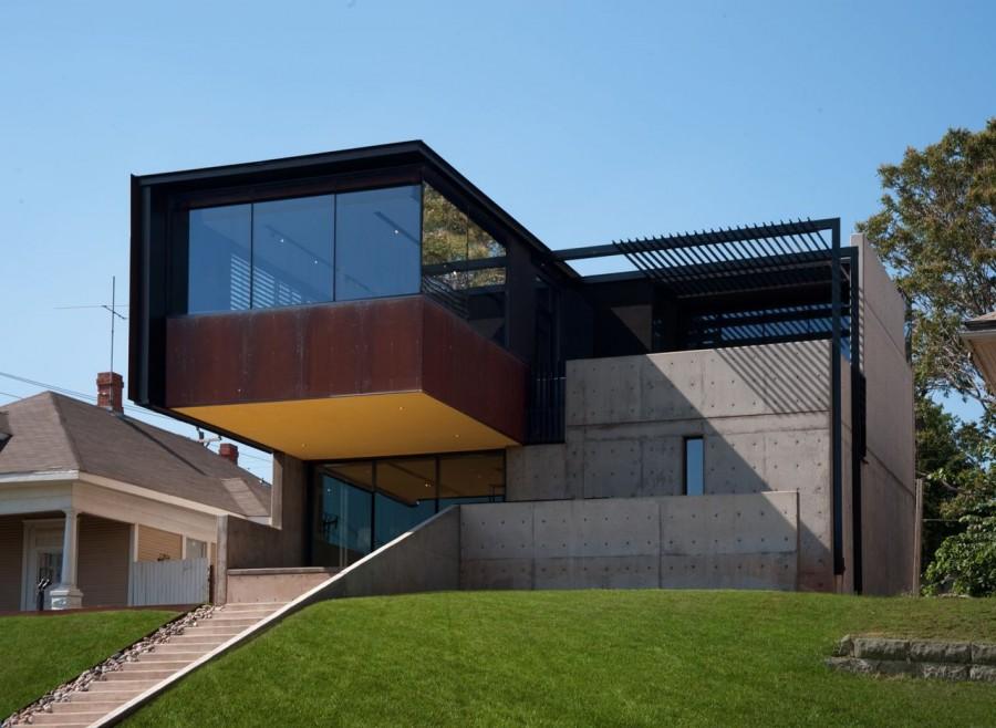 modern house city concrete cool idea (12)